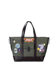 Dsquared2 - Army green canvas shopping bag