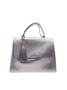 Orciani - Silver bag with fuxia edges