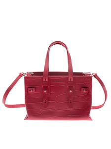 Orciani - Red cocco effect leather bag
