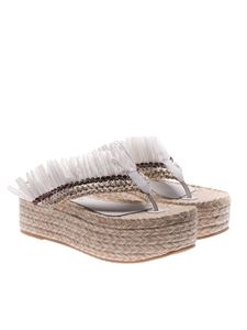 Paloma Barceló - White Arrayan wedge sandals