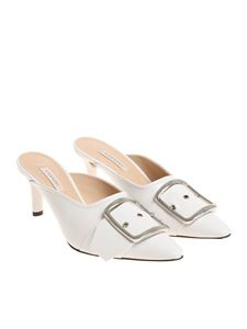 Casadei - White mules with buckle