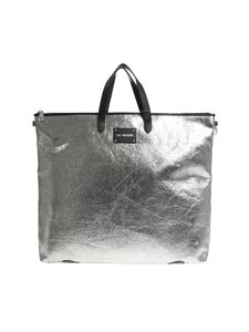 Love Moschino - Silver crackle eco-leather backpack-bag