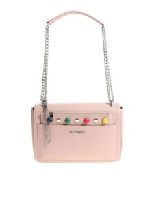 Love Moschino - Pink saffiano effect eco-leather shoulder bag