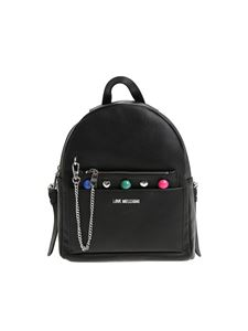 Love Moschino - Saffiano effect eco-leather backpack