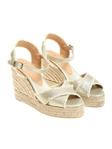 Castaner - Golden Bromelia wedge sandals