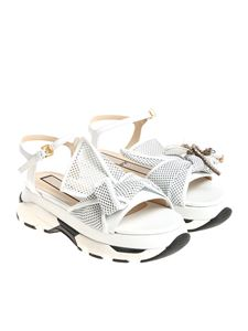 N° 21 - White leather sandals