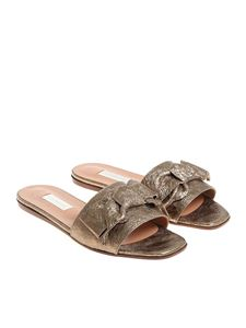 L'Autre Chose - Bronze slippers with bow