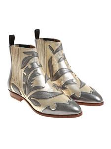 Santoni - Hammered leather ankle boots