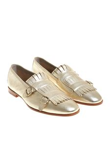 Santoni - Golden hammered leather shoes