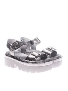 KENDALL + KYLIE - Silver Wave sandals