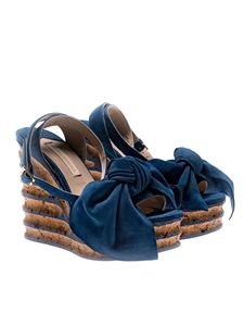 Paloma Barceló - Blue Iris sandals with knot