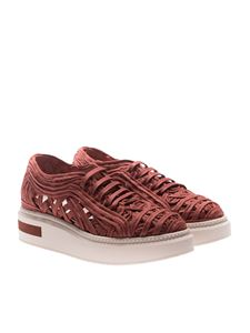 Manuel Barcelò - Copper red Lane woven sneakers