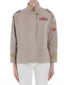 Fay - Beige jacket with golden embroidery