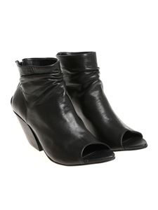 The Last Conspiracy - Black Cindy Open Toe ankle boots