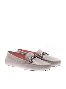 Tod's - Gray reptile effect loafers