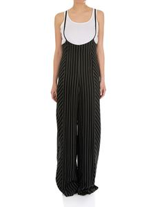 Alexander Wang - Black and white pinstriped jumpsuit