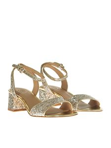 Ash - Golden and beige Remix sandals