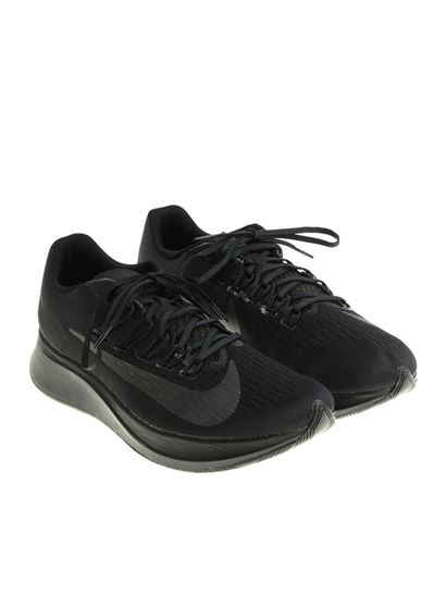 Running sneakers Color: black Logo prints Black rubber sole - Nike - Black  technical fabric