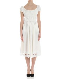 Blumarine - White dress with bow inserts