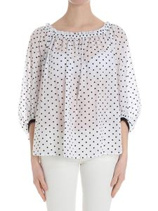 Blumarine - White blouse with black embroidery