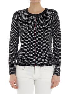 Twin-Set - Black cardigan with white polka dots