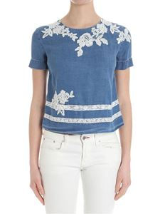 Ermanno by Ermanno Scervino - Denim top with lace