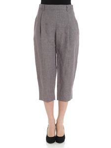 Eleventy - Grey cropped trousers