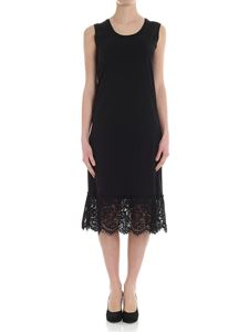 MY TWIN Twinset - Black dress with lace insert