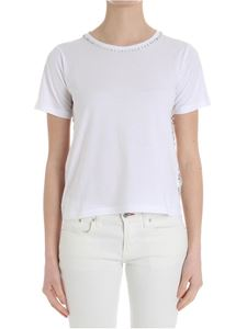 MY TWIN Twinset - White t-shirt with lace