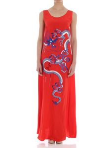 Parosh - Red dress with dragon embroidery