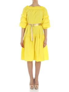 KI6? Who are you? - Yellow off-shoulders dress