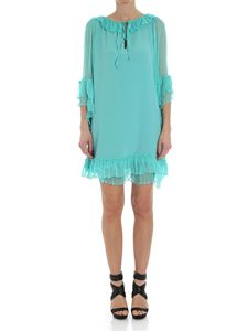 KI6? Who are you? - Turquoise dress with ruches