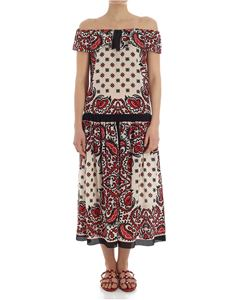 Red Valentino - Floral printed off-shoulders dress