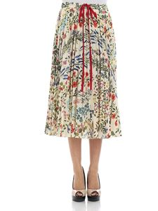 Red Valentino - Floral pleated skirt