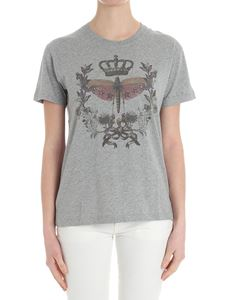 Red Valentino - Gray t-shirt with multicolor print