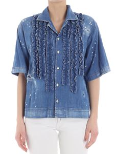 Dsquared2 - Denim shirt with ruffles