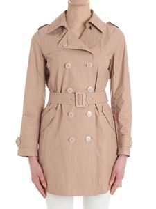 Herno - Pink double-breasted trench