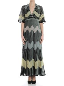 M Missoni - Black dress with multicolor embroideries