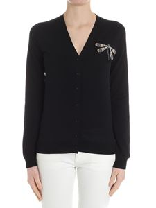 Rochas - Black cardigan with dragonfly