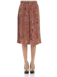 N° 21 - Pleated skirt with floral print