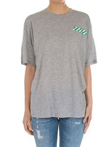 Off-White - Grey Tape New Oversize t-shirt