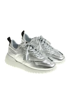Tod's - Silver sneakers with tassels