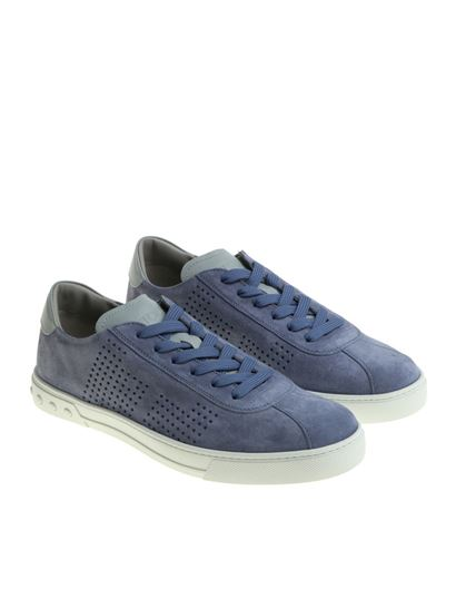 Light blue suede sneakers Tod's Discount 2018 Unisex y0EQtqar
