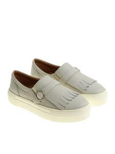 Moreschi - Gray slip on with buckle and fringes