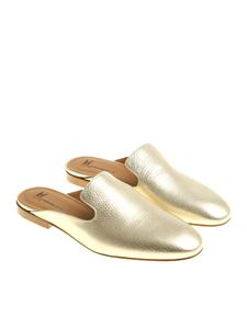 Moreschi - Golden leather mules