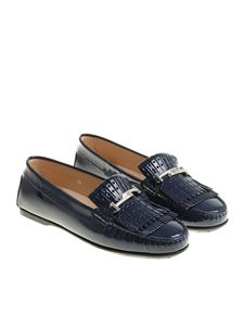 Tod's - Blue patent leather loafers