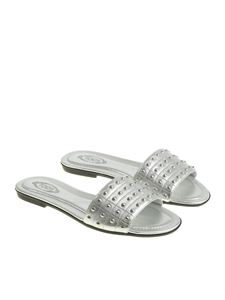 Tod's - Silver studded slipper