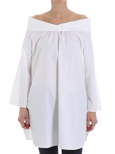 Fuzzi - White off shoulders blouse