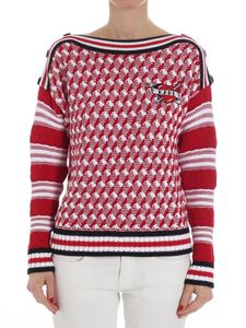 Karl Lagerfeld - Red and white Captain Karl sweater