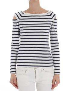 Fuzzi - Striped long sleeves T-shirt